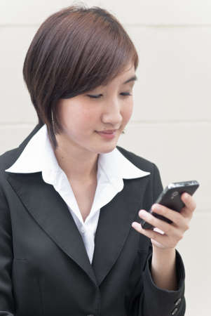 asian business woman on phone call photo