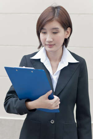 Expression of business woman photo