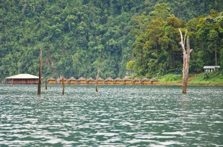 Beautiful mountains and natural attractions in Ratchaprapha Dam at Khao Sok National Park, Surat Thani Province, Thailand. Stock Photo - 21890983