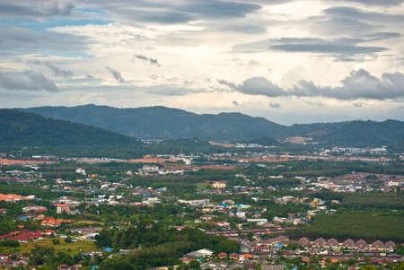 rang: Landscape of Phuket Town view from Rang Hill