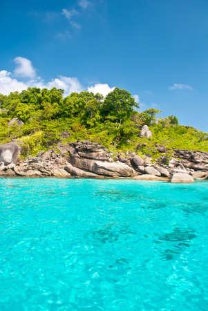 similan: Turquoise water of Andaman Sea at Similan islands, Thailand