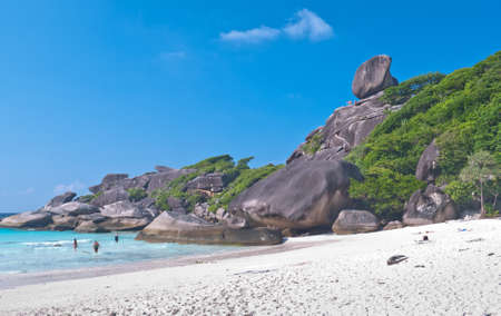 similan islands: Turquoise water of Andaman Sea at Similan islands, Thailand