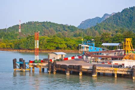thani: pier at Surat Thani to koh samui, Thailand