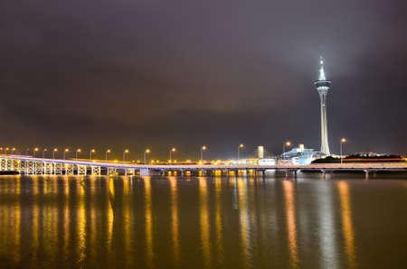 prosper: Macau tower at night