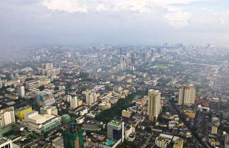 krung: Bangkok cityscape - view of the city from the tallest building in Thailand, Baiyoke Tower 2.