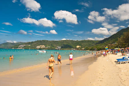 PHUKET - JAN 1: crowds of tourists spend their New year holiday on January 1, 2013 in Phuket, Thailand. Phuket is a popular destination famous for its beaches