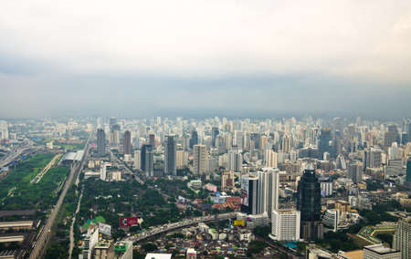 BANGKOK, THAILAND - SEP 15. Panorama view over Bangkok on September 15, 2012 in Bangkok, Thailand. Bangkok is the biggest city in Thailand with 7,02 million inhabitants.