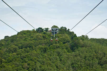 Cable Car at Hatyai Park , Hat Yai , Thailand photo