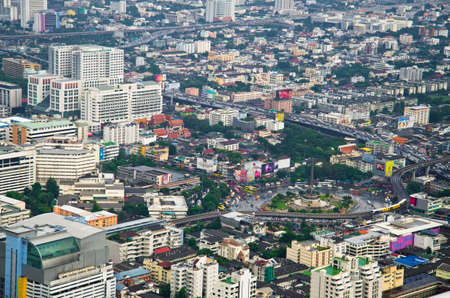 inhabitants: BANGKOK, THAILAND - SEP 15. Panorama view over Bangkok on September 15, 2012 in Bangkok, Thailand. Bangkok is the biggest city in Thailand with 7,02 million inhabitants.