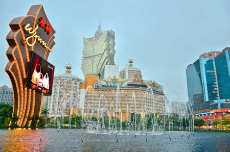 MACAU, CHINA - MAY 9: buildings of Macao Wynn hotel on May, 2013, Wynn hotel casino is the landmark of Macau city in China.