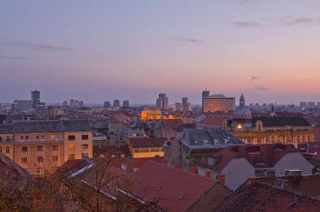 zagreb: Zagreb cityscape, Croatia Editorial