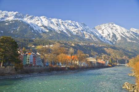 Innsbruck Austria - architecture and nature background photo