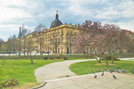 central square: piazza centrale, Zagabria, Croazia Editoriali
