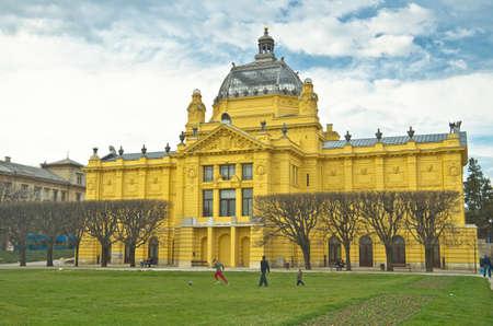 pavillion: art pavillion in Zagreb. Croatia