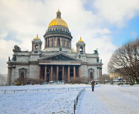 Saint Isaac's Cathedral in St Petersburg, Russia Stock Photo - 23751365