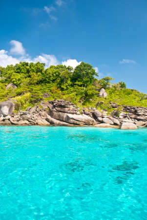 Turquoise water of Andaman Sea at Similan islands, Thailand photo
