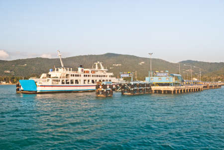 seaway: view of passenger ferry boat at Samui island,Thailand