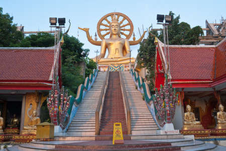 Big Buddha statue in Wat Phra Yai Temple, Koh Samui island, Thailand photo