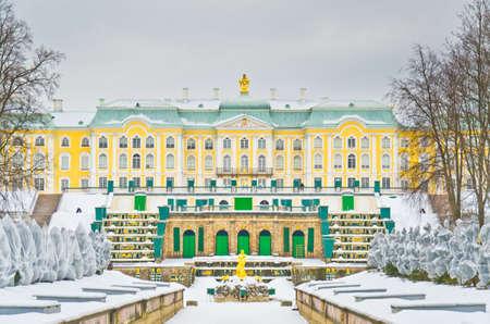 Grand cascade in Pertergof, Saint-Petersburg, Russia