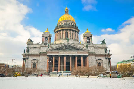 Saint Isaacs Cathedral in St Petersburg, Russia
