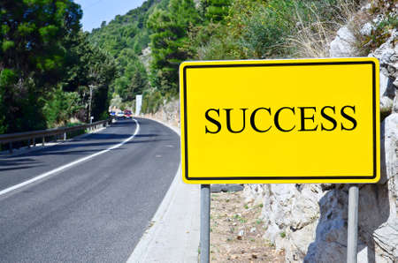 tollway: success in street sign on motorway