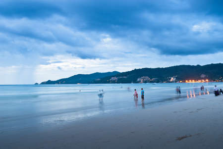 sunset at the Patong beach, Phuket, Thailand photo