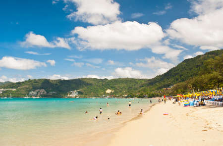 Beautiful beach at Patong beach , Phuket, Thailand
