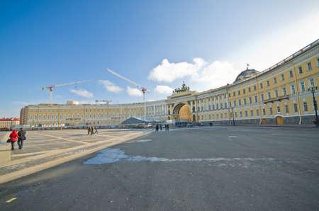Alexander Column in St Petersburg, Russia.