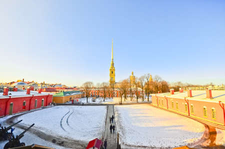 Buildings at the Peter and Paul Fortress in St. Petersburg, Russia photo