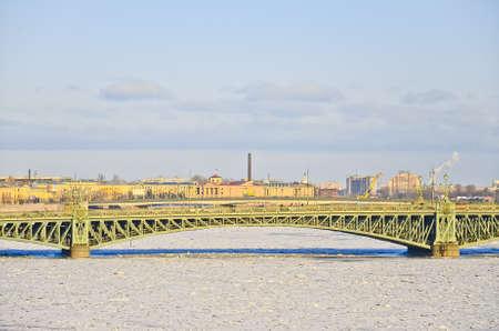 blagoveshchensky: View of St. Petersburg. Blagoveshchensky (Annunciation) Bridge Stock Photo