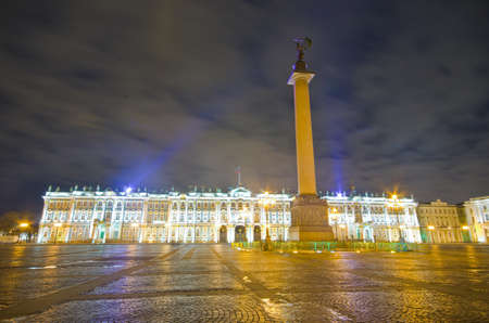 Winter Palace and Alexander Column - St. PetersburgRussia
