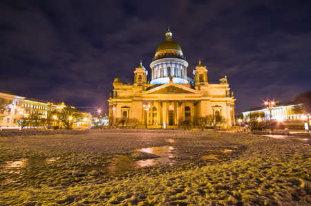 Saint Isaacs Cathedral in St Petersburg, Russia photo
