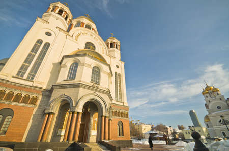 patriarchal: YEKATERINBURG, RUSSIA -MARCH 2: Church on Blood and Patriarchal Metochion on March 2, 2012 in Yekaterinburg, Russia. Church was built in 2000-2003 on the place where Nicholas II was shot in 1918.