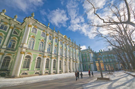 crown spire: PETERSBURG, RUSSIA-MARCH 2: The Hermitage Museum on March 2, 2012 in Petersburg. The Hermitage Museum is the largest art gallery in Russia and is among the largest art museums in the world.