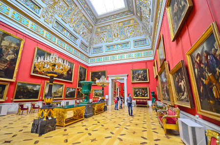 imrepator: ST.PETERSBURG, RUSSIA - MARCH 4: Interior of State Hermitage on March 4, 2012 in St.Petersburg, Russia. State Hermitage was founded in 1764. Now it is largest in Russia and one of largest museums