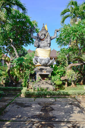god figure: ganesha hindu god figure in bali indonesia temple