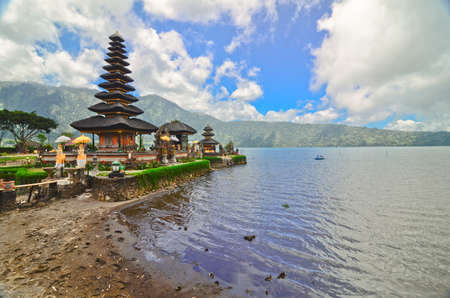 bratan: Pura Ulun Danu temple on a lake Beratan. Bali