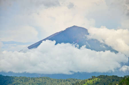 Landscape of Agung volcano on Bali island, Indonesia photo