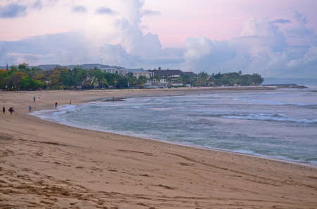 kuta: Kuta Beach, Lombok, Indonesia. Paradise place for surfing and relaxing Stock Photo
