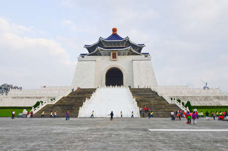 TAIPEI, TAIWAN - JUNE 25th: Chiang Kai-shek Memorial Hall JUNE 25th, 2013 in Taipei, TAIWAN, Asia. The building is famous landmark and must see attraction in Taipei.