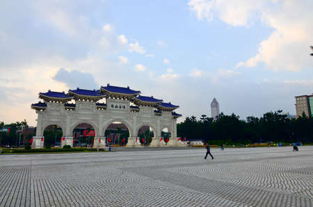 AIPEI, TAIWAN - JUNE 25th: Chiang Kai-shek Memorial Hall JUNE 25th, 2013 in Taipei, TAIWAN, Asia. The building is famous landmark and must see attraction in Taipei.