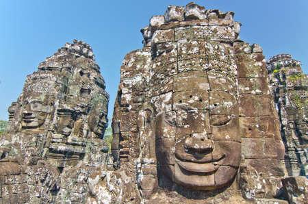 thom: Bayon Temple at Angkor Thom, Angkor, Cambodia