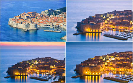 collage of Dubrovnik,Croatia photo