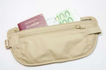 safety waist pouch for traveler and money and passport photo