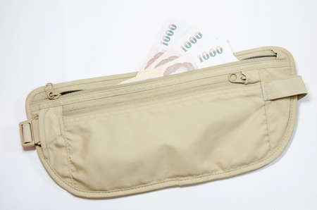 safety waist pouch for traveler and money photo