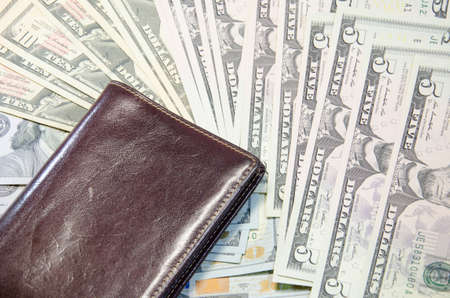 Wallet with dollars photo