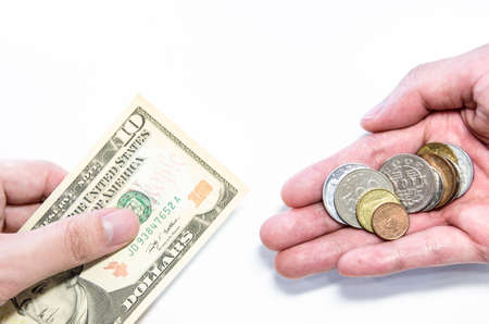 hands giving money photo