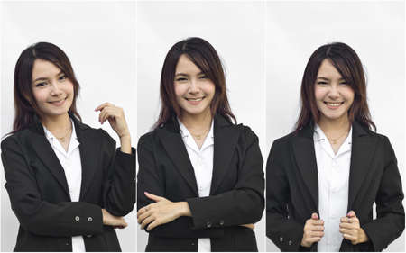 Asian busines woman collage photo