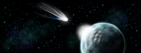 end of world: Comet hit on earth - apocalypse and end of time