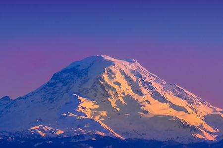 Mountain view Taken from Vashon Island, WA Stock Photo